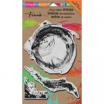 Stampendous Cling Rubber Stamps - Brush Strokes [CRS7001]