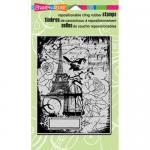 Stampendous Cling Rubber Stamps - Eiffel Collage [CRR202]
