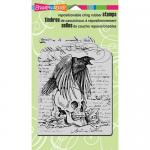Stampendous Cling Rubber Stamps - Raven Skull [CRR228]