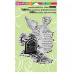 Stampendous Cling Rubber Stamps - Owl Tombstone [CRR230]