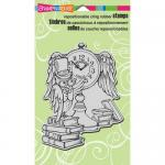 Stampendous Cling Rubber Stamps - Owl Clock [CRR248]