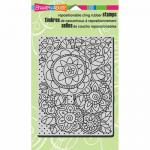Stampendous Cling Rubber Stamps - PenPattern Blooms [CRR216]