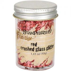 Stampendous Crushed Glass Glitter - Red