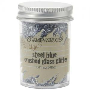 Stampendous Crushed Glass Glitter - Steel Blue