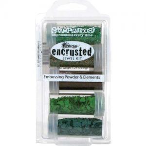 Stampendous Encrusted Jewel Kit - Green
