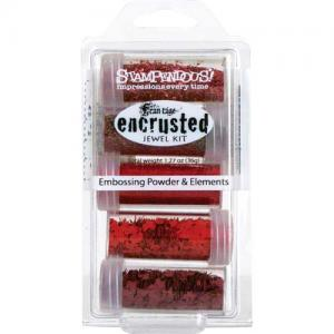 Stampendous Encrusted Jewel Kit - Red