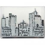 Stampendous n*Studio Stamp and Stencil Set - Urban Scribble [NKCFS03]