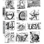 Stampers Anonymous/Tim Holtz Unmounted Rubber Stamps - [CMS146] Mini Blueprints 2