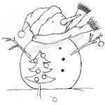 Stamping Bella Unmounted Rubber Stamp - [KS105] Frosty