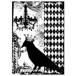 Tim Holtz Components Unmounted Rubber Stamps - Blackbird [COM017]
