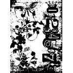 Tim Holtz Components Unmounted Rubber Stamps - Fairy Garden [COM029]