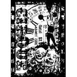 Tim Holtz Components Unmounted Rubber Stamps - Circus Freak [COM034]
