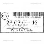 Stampotique Originals - [10026] Ticket For Paris