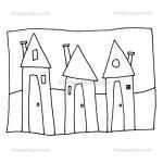 Stampotique Originals - [9082] Rowhouses