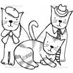 Stampotique Originals - [9251] Cat Family