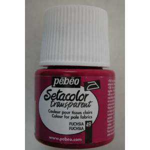 Pebeo Setacolor Transparent - 49 Fuchsia