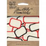 Idea-ology by Tim Holtz - [TH92993] Vial Labels Red and Black