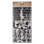 Idea-ology by Tim Holtz - [TH93117] Alpha Parts Framed