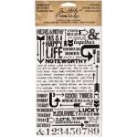 Idea-ology by Tim Holtz - [TH93120] Remnant Rubs - Life Quotes