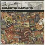 "Tim Holtz Eclectic Elements 12"" x 12"" Craft Pack - Labels [14758]"