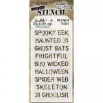 Tim Holtz Layering Stencil - Halloween [THS027]