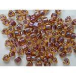 Miyuki Triangle Bead - 1167 Sparkle Amethyst Lined Topaz Luster