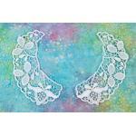 Venise Lace Collar Pair - [108-029] White