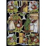 Glittered Victorian Scrap Pictures [7019G] - Fairytales - ON SALE!