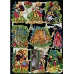 Glittered Victorian Scrap Pictures [7026G] - Fairytales - ON SALE!