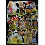 Glittered Victorian Scrap Pictures [7027G] - Fairytales - ON SALE!