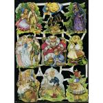 Glittered Victorian Scrap Pictures [7028G] - Fairytales - ON SALE!