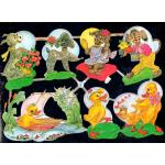 Glittered Victorian Scrap Pictures [7056G] - Animals - ON SALE!