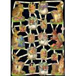 Glittered Victorian Scrap Pictures [7256G] - Animals - ON SALE!