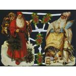 Victorian Scrap Pictures [7153] - Santa With Toys - ON SALE!