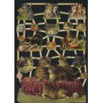 Victorian Scrap Pictures [7301] - Cats - ON SALE!