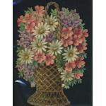 Loose Victorian Scrap [5082] - Flower Basket - ON SALE!
