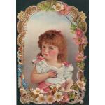 Loose Victorian Scrap [7060] - Little Girl - ON SALE!