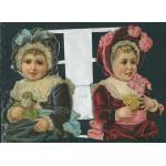 Loose Victorian Scrap [7062] - Two Little Girls - ON SALE!