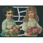 Loose Victorian Scrap [7087] - Two Children - ON SALE!