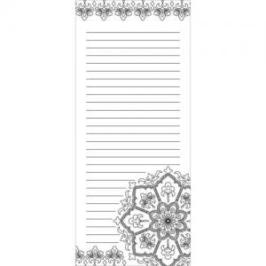 Wellspring Coloring Notepad - Medallion