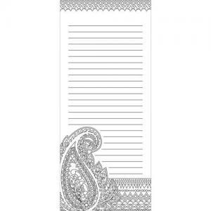 Wellspring Coloring Notepad - Paisley