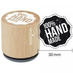 Woodies Mounted Rubber Stamp - 100 Percent Handmade [5003]
