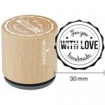 Woodies Mounted Rubber Stamp - For You With Love Handmade [5001]