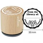 Woodies Mounted Rubber Stamp - From The Library Of, Please Return [8006]
