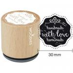 Woodies Mounted Rubber Stamp - Handmade With Love Homemade [5006]