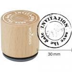 Woodies Mounted Rubber Stamp - Invitation Save The Date [2003]