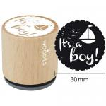 Woodies Mounted Rubber Stamp - It's A Boy [6002]