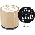Woodies Mounted Rubber Stamp - It's A Girl [6001]