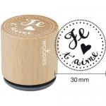 Woodies Mounted Rubber Stamp - Je T'aime [4003]