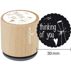 Woodies Mounted Rubber Stamp - Thinking Of You [4007]